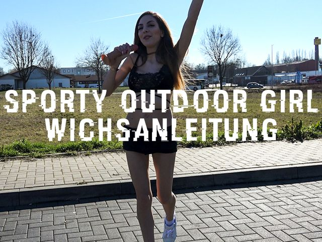 Sporty Outdoor Girl Wichsanleitung